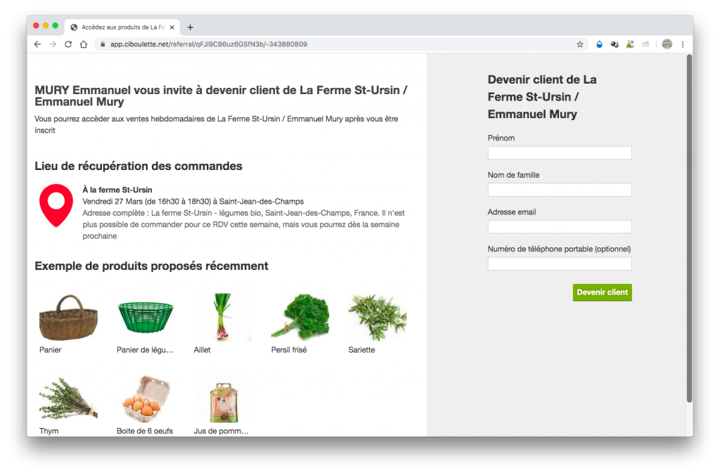 commande legume bio